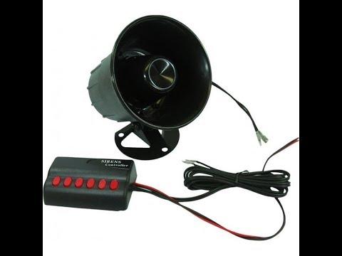 'Novelty 8 sound 12v car / bike horn' Demo !