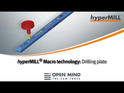 hyperMILL Macro Technology: Drilling plate |CAM-Software|