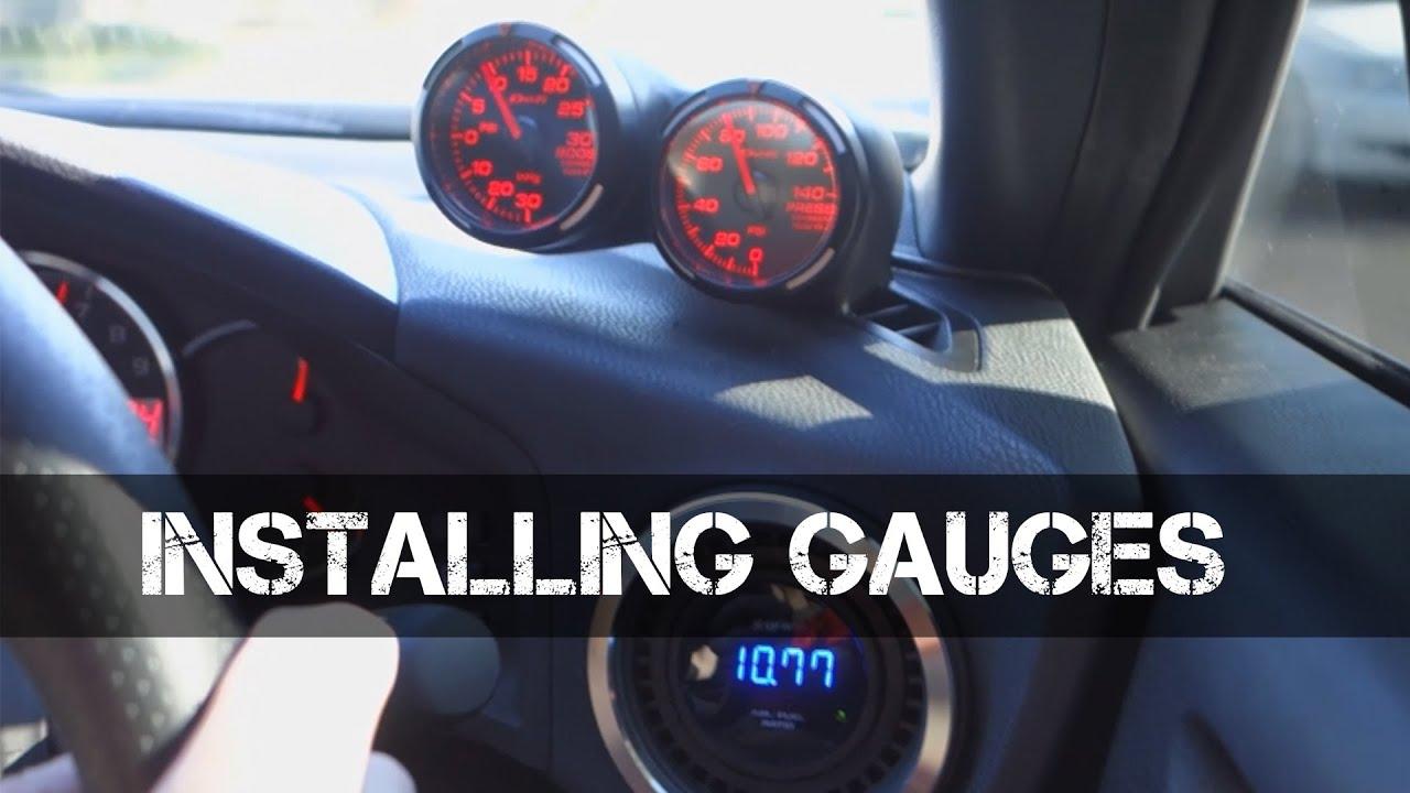 installing boost oil pressure afr gauges [ 1280 x 720 Pixel ]