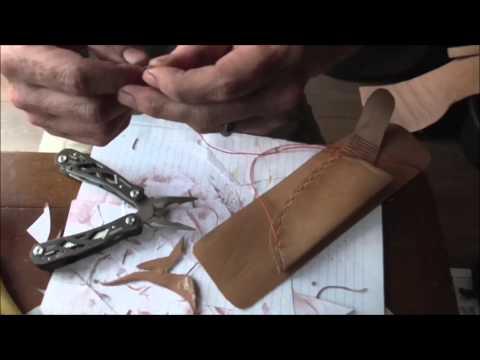 Making :Leather mora  companion sheath, Scout carry