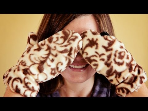 How To Sew Fleece Mittens (free Pattern)