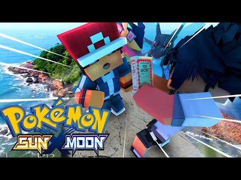 Minecraft - POKEMON SUN X MOON - ALAIN E ASH A MISSÃO SECRETA DE SOLGALEO ! 18