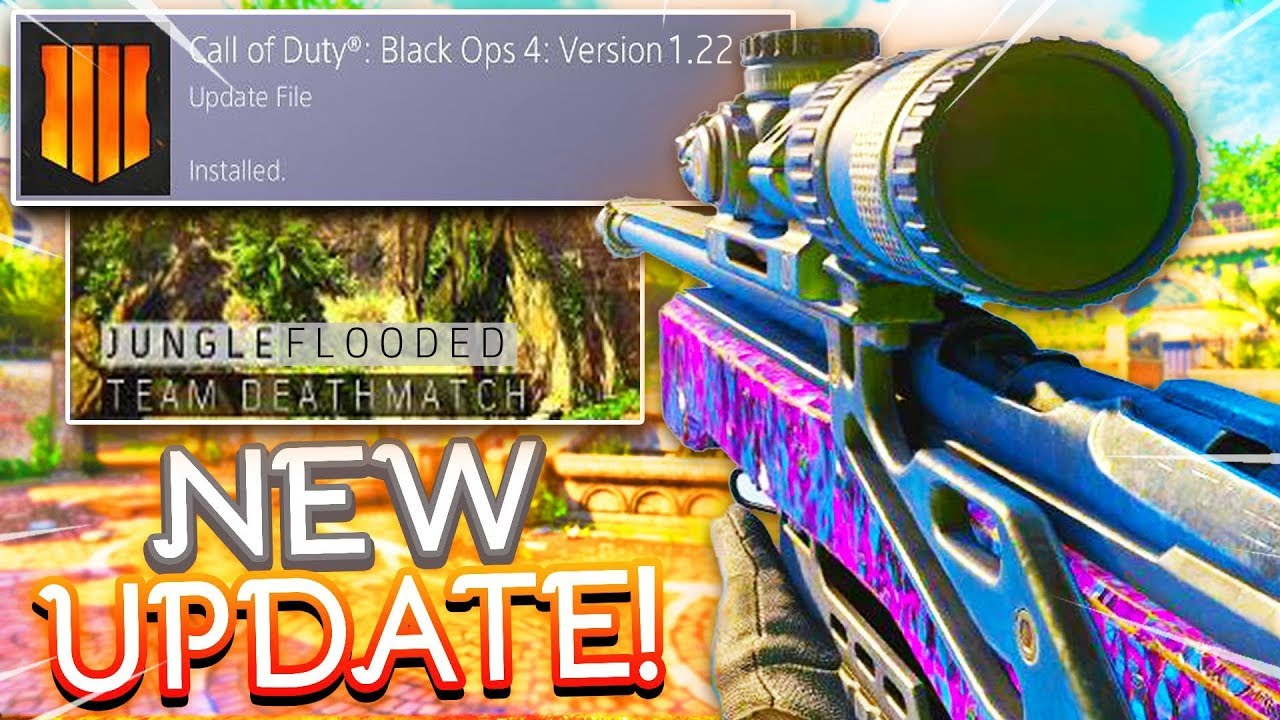 Watch NEW Black Ops 4 1 22 Update - NEW WEAPONS M16 and S6 STINGRAY
