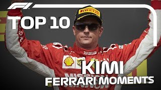 Top 10 Kimi Raikkonen Moments at Ferrari