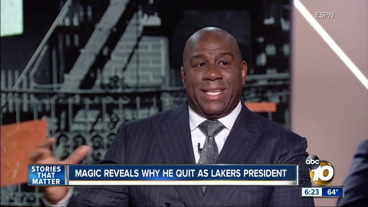 magic johnson quit the lakers after he was copied into - 1280×720