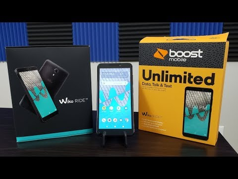 Wiko Ride Boost Mobile Unboxing and First Boot Up