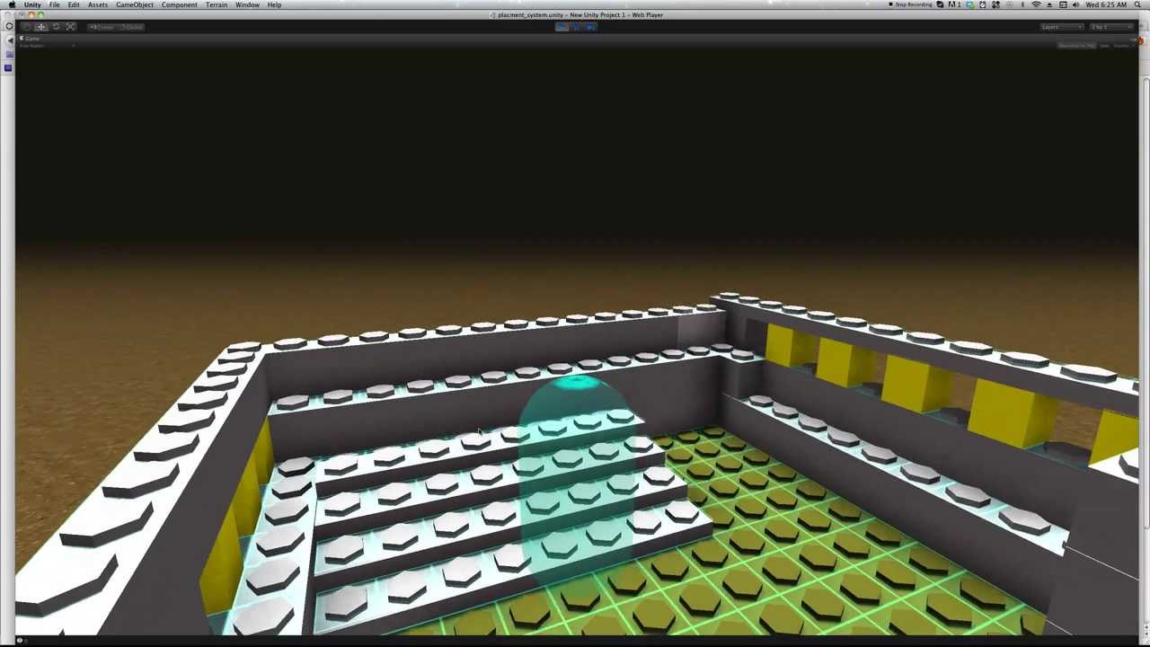 Unity3D Lego Brick Building Game || Pre-Alpha - YouTube