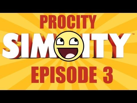 Simcity 5 - Procity #3 - Commercial Startup Tips (Culture, Globe Theatre, Bus Terminal, Education)