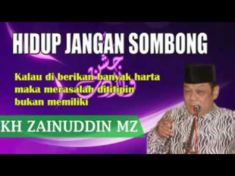 K.H Zainudin MZ - Karakter orang sombong