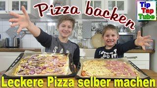 Pizza selber machen DIY Kinderleicht backen einfach, lecker und schnell Kinderkanal