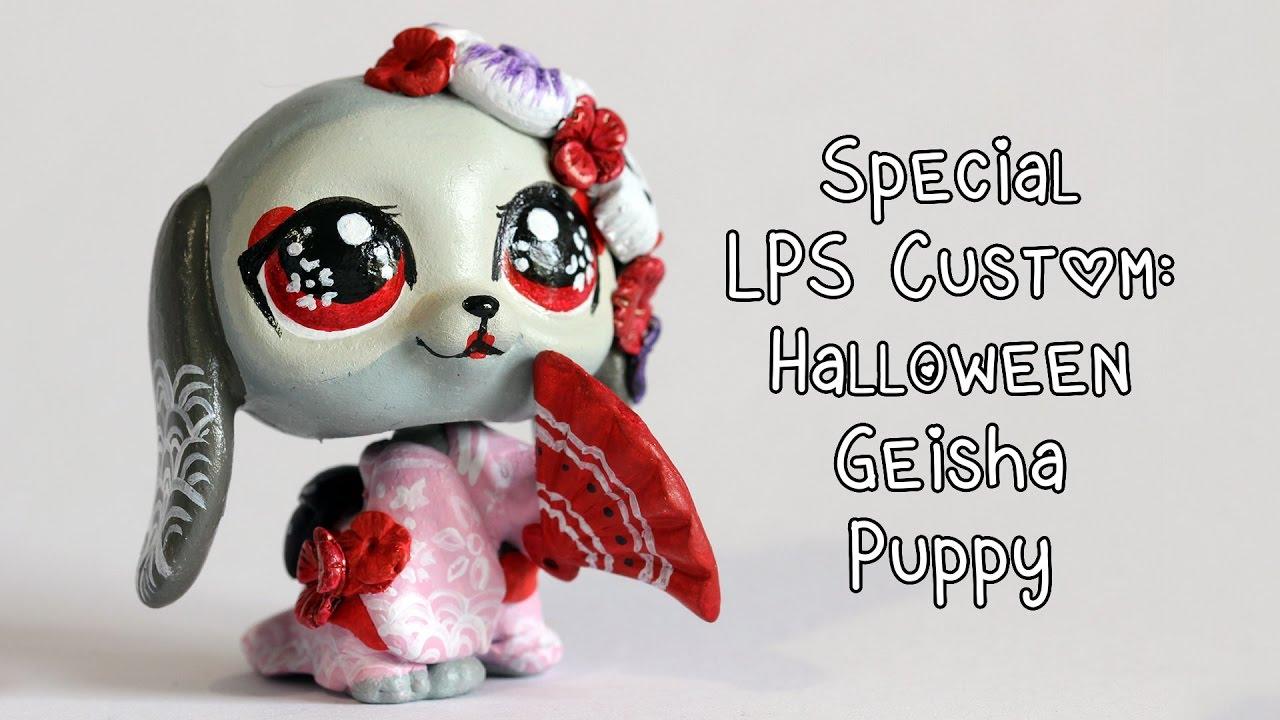 special lps custom halloween geisha puppy