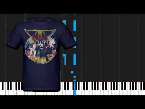 How to play Dream On  Aerosmith on Piano Sheet Music