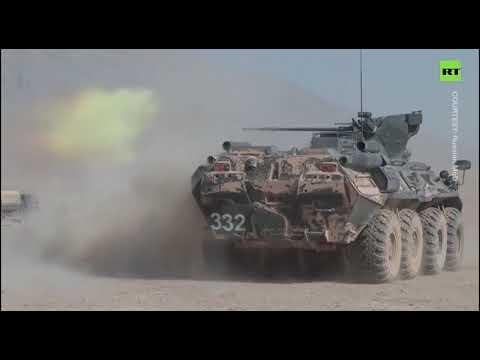Thousands of Russian, Uzbek & Tajik troops rehearse turning back enemy offensive on Afghan border