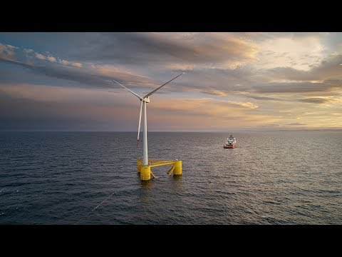 Floating Offshore Wind Turbine Installation - Kincardine project Scotland