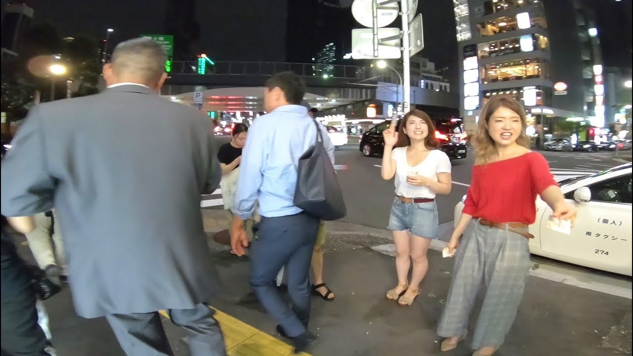 Walking Through the Streets of Tokyo, Japan at Night