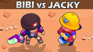 BIBI vs JACKY | 1vs1 | 18 Tests | Brawl Stars