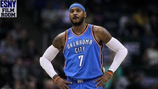 ESNY Film Room: Carmelo Anthony's Limitations Destroy Thunder's Overall Game thumbnail