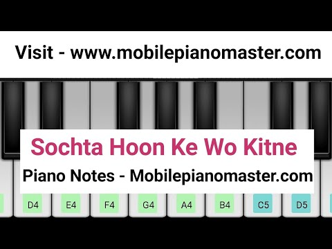 Sochta Hoon Ke Wo Kitne Masoom The Piano|Piano Keyboard|Piano Lessons|Piano Music|learn Piano Online