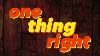 Marshmello x Kane Brown - One Thing Right [Lyrics] (Official Lyric Video)