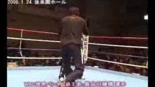 1/24袴田巌チャリティボクシング-長谷川穂積、華麗なミット打ち
