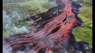 Drone Footage of Hawaiian Lava River