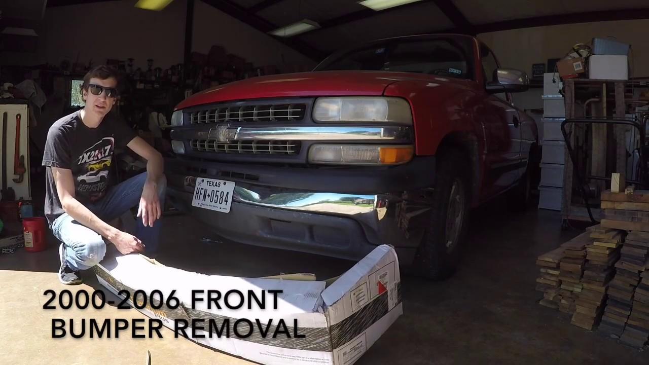 20002006 Chevy Silverado bumper removalinstall  YouTube