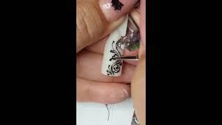 2 урок  Тонкие линии, гель  Мастер класс  Юлия Билей