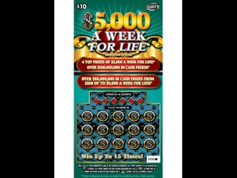 $5,000 A Week for Life - FL Lottery - Gerry12250