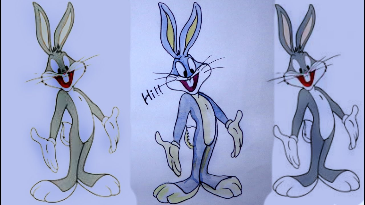 Bugs bunny cartoons | How to draw bugs bunny | How to draw ...