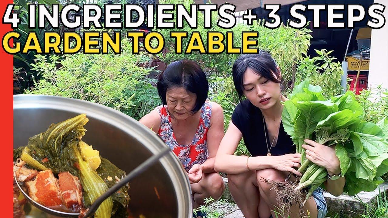 HOT & SOUR MUSTARD GREEN VEGETABLE STEW | Choi Keok | Suen Lat Choy Recipe