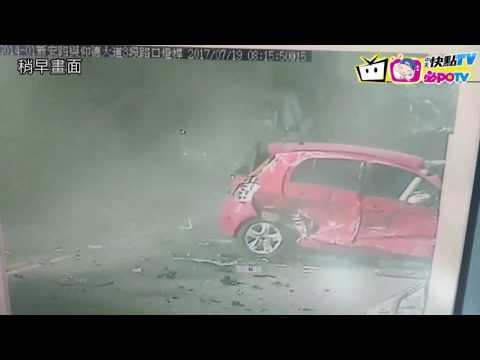 19日仰德大道嚴重車禍(監視器)