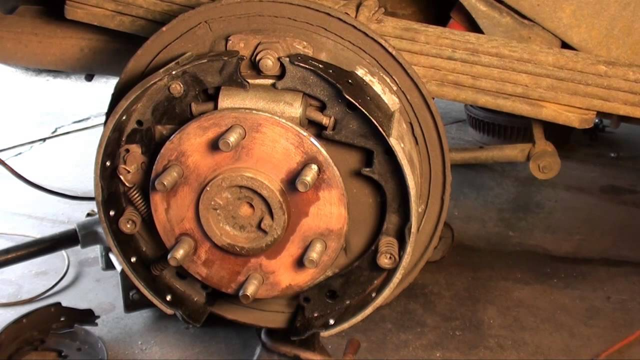 How to replace drum brakes, wheel cylinders and front pads GM  YouTube