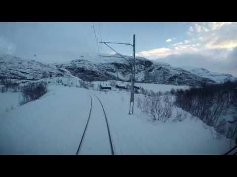 Train Driver's View: Time lapse Myrdal - Flåm (flam) with shunting
