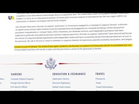 "US Reaffirms Commitment to Ukraine on Anniversary of Crimea ""Referendum"""