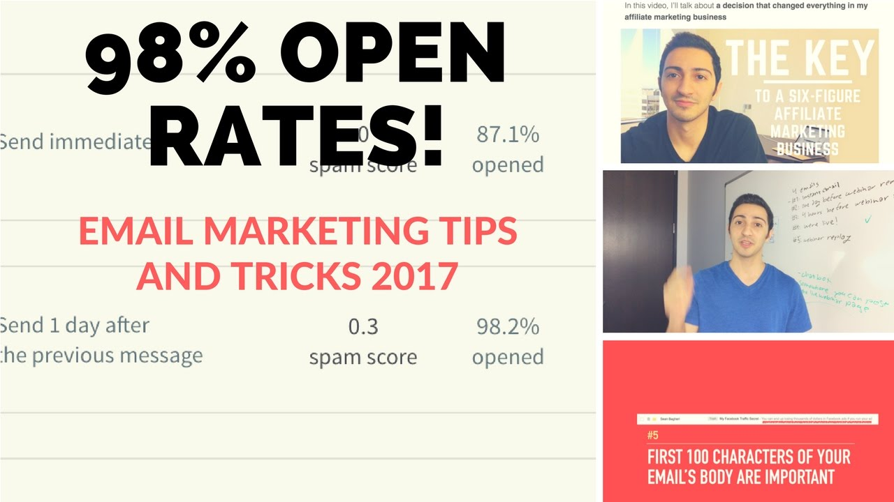 10 Email Marketing Tips and Tricks 2017 - Get 98% Open Rates! - YouTube