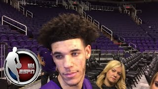 Lonzo Ball reacts to President Trump helping LiAngelo and LeBron James praising him | NBA on ESPN