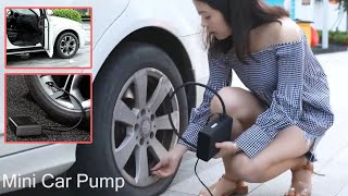 Baseus 12V Electric Mini Air Compressor Tire Inflator Portable Car Suv Emergency Pump
