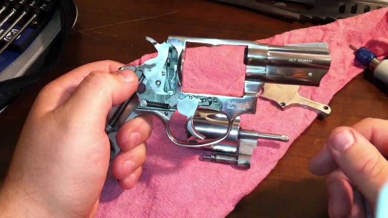Polish and trigger job on a taurus 605  357 magnum revolver