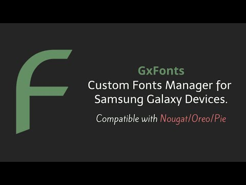 GxFonts - Custom Fonts Manager For Samsung [NOROOT]
