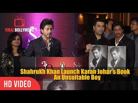 Shahrukh Khan Launch Karan Johar's Book 'An Unsuitable Boy'   Viralbollywood