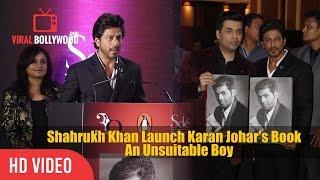 Shahrukh Khan Launch Karan Johar's Book 'An Unsuitable Boy' | Viralbollywood thumbnail