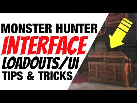 Monster Hunter World Tips & Tricks Interface UI Options Loadouts