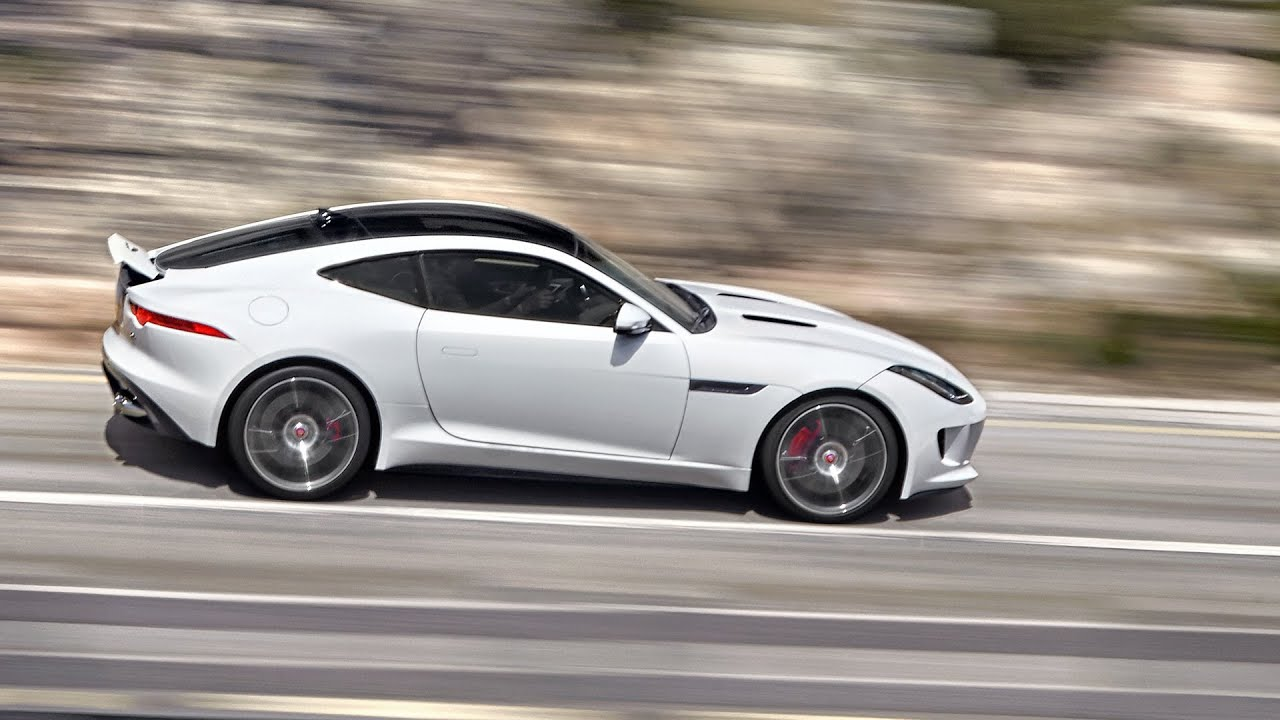 new jaguar f type r coupe 550 hp test drive youtube. Black Bedroom Furniture Sets. Home Design Ideas