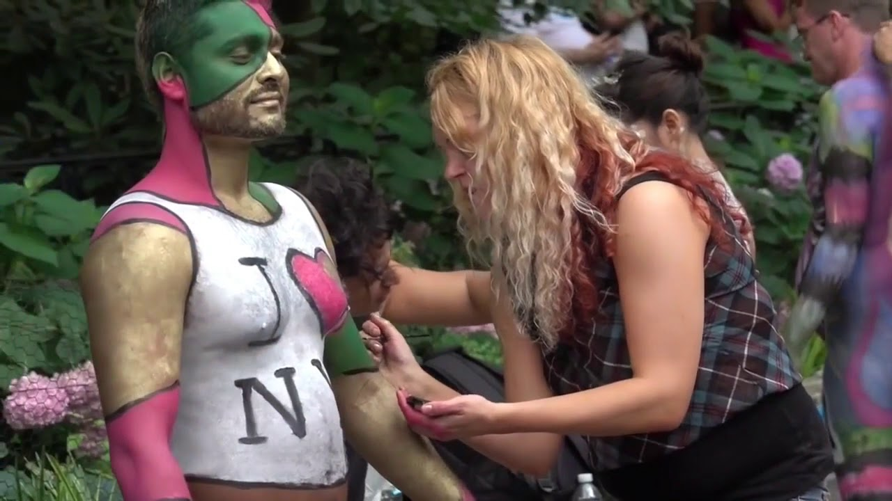 Amazing Body Painting Body Art New York Part 7 Youtube