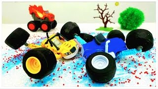 ICE CRASH! - Monster Trucks Toy Trucks videos for kids - Toy cars story for kids - Monster machines!
