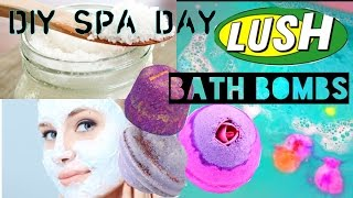 at home spa day   diy bath bombs bubblebath more