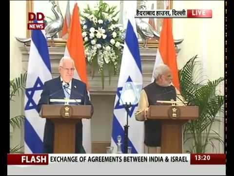 Joint press statement of PM Modi and Reuven Rivlin, President of Israel