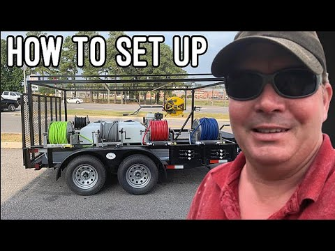 how to set up pressure wash trailer with water tank youtube