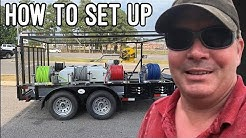 How to set up pressure wash trailer with water tank