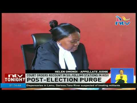 Court orders recount in six polling stations in Kisii